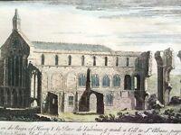 Framed Print of Binham Priory in Norfolk from 1738