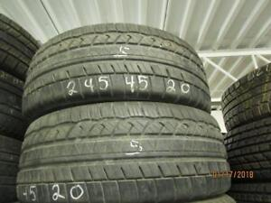 245/45R20 2 ONLY USED COOPER ALL SEASON TIRES