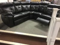 Real leather corner sofas
