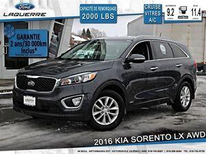 2016 Kia Sorento **LX*2.4L*AWD*AUTOMATIQUE*CRUISE*A/C**