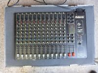 PA System for live use. Includes 2000w PA amp, 15in passive speakers and Studiomaster 12.2 mixer