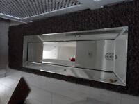 GOOD QUALITY MIRROR 47 INCHES X 16 INCHES IN EXCELLENT CONDITION