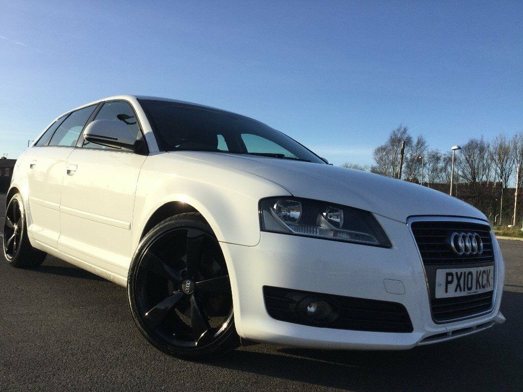 audi a3 2 0 tdi sport sportback 5dr white with black alloys in manchester city centre. Black Bedroom Furniture Sets. Home Design Ideas