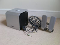 DELL A525 COMPUTER SPEAKERS W / SUBWOOFER 2.1 SYSTEM MARINE BOAT