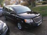 Chrysler Grand Voyager CRD Black 2.8L Diesel Automatic, MOT Jan 2019, Clean & Tidy Spacious Car.