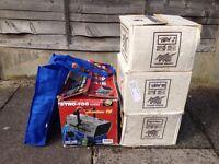 BOXED SET OF DISCO LIGHTS + SMOKE MACHINE! - £150