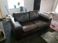 Job lot of Italian leather sofas, 4 sofas 1 Armchair
