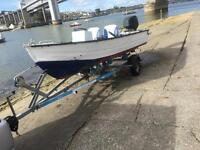 14 ft alaminium boat with 50hp four stroke ptt