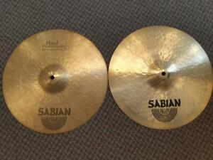 Cymbales Sabian HH Medium hats 14 usagées-used