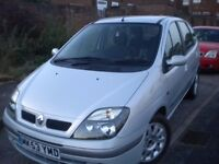 FOR SALE RENAULT SCENIC 1.6 PETROL MOT TILL NOVEMBER 14TH SERVICE HISTORY MILLAGE IS 88009