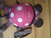 MinnieMouse little backpack with reins