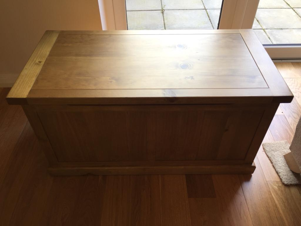 Large solid wood toy chest