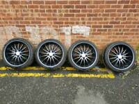 """19"""" Alloy wheels with Tyres"""