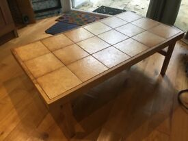 Wood-Tile Coffee Table