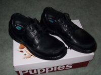 Black Leather Hush Puppies