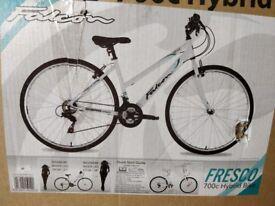 A New Ladish hybrid bike for sale it's falcon company Queensbury it's 157 on Amazon I sale 110
