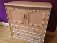 Small wardrobe/dresser with 2 drawers