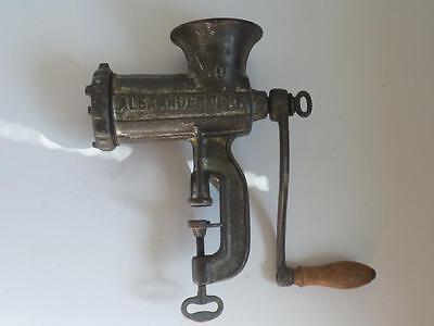 Antique German kitchen meat grinder iron cast  Alexanderwerk # 10 marked