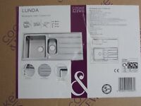 "COOKE & LEWIS "" LUNDA "" RECTANGULAR KITCHEN SINK"