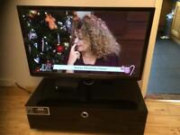 BLACK TV STAND with storage