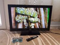 LG 32LM3400 32 inch HD Ready 3D LCD TV, Build in Freeview, 3x HDMI, 1x USB