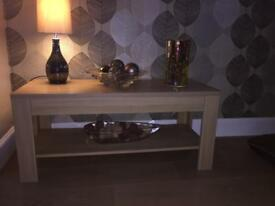 Oak effect coffee table