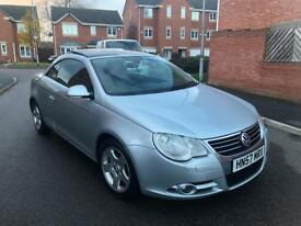 2008 VOLKSWAGEN EOS 3.2 V6 SPORT AUTO DSG SILVER PANROOF LEATHERS FSH PX GOLF R32 GTI S3