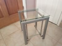 Glass Coffee Table & Matching nest of three tables