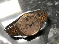 Genuine Rolex datejust diamond
