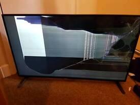 Damaged 42 inch Smart TV
