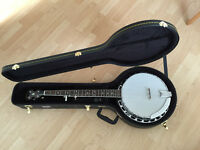 GOLD TONE BG-250F 5 STRING PROFESSIONAL BLUEGRASS BANJO WITH NEW KINSMAN HARD CASE £550