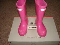 Hunter Original Kids Glitter Finish Wellington Boots