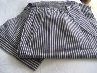 Pyjamas, Men's Size XXL - Designer Navy Pinstripe, NEW WITH TAGS