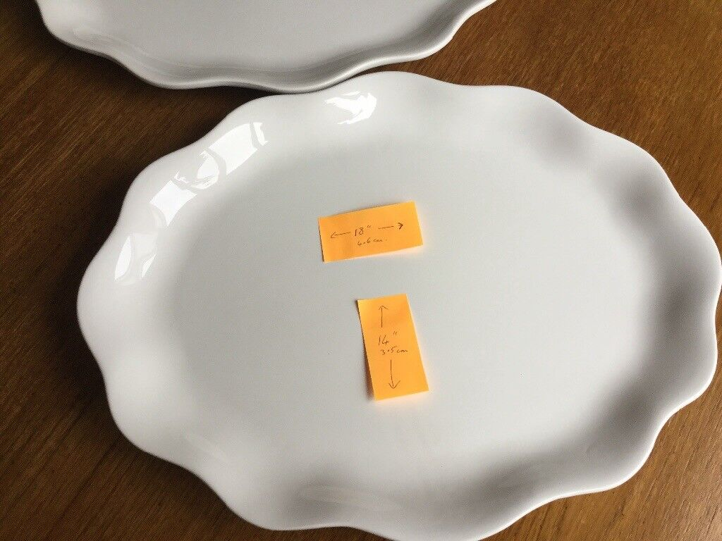 2 Large Oval Platters