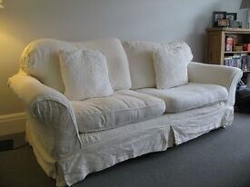Cream DFS 3 seater sofa; good condition; pet free smoke free home