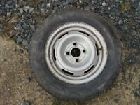 Caravan spare wheel & tyre