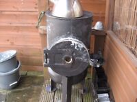 wood burner stove with hotplate top