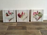 Pictures x3 canvas (hearts)