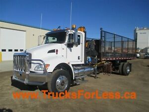 2011 Kenworth T370 4X4, PICKER TRUCK + 20 FT. DECK!!!