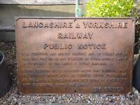 Original large cast Iron Railway Notice sign