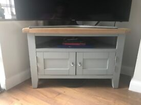 corner TV stand and coffee table set for sale