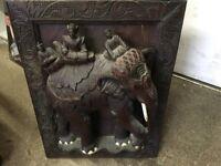 Antique Teak Carving of an Elephant