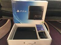 500gb PS4 boxed with 2 controllers & 4 games