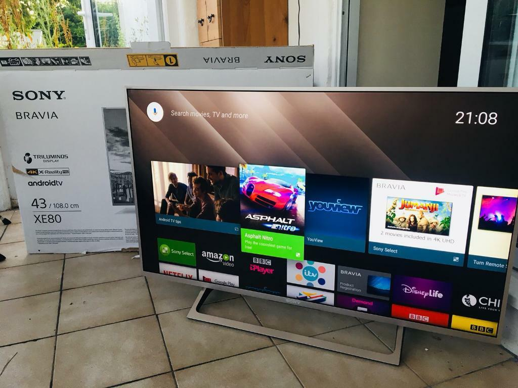 "Sony Bravia XE80 43"" 4K Ultra HD TV 