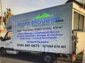 Man and van house removals. Fully insured at low prices.