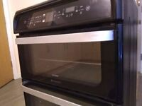 Hotpoint HUI62TK Ultima 60cm Double Oven Electric Cooker With Induction Hob - Black -