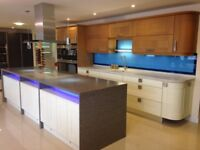 Quality Ex Display timber Kitchen inc 8 Siemens appliances and Corian worktops