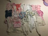 Baby girl clothes bundle 0-3 first size new born