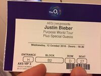 """Justin Bieber - """"Where Are You Now"""" VIP Package - 12 October The O2 London"""
