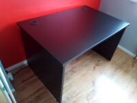 High quality, hardly used Black Valoir Panel End Desk for computers, video games, etc.